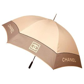 Chanel-Large CHANEL umbrella-Eggshell