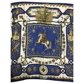 Hermès-HERMES square-Blue