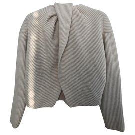 Céline-Short sweater-Cream