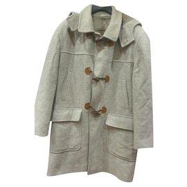 Autre Marque-Franco Ancona wool duffle coat-Grey