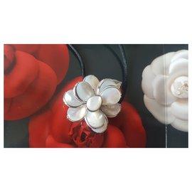 Chanel-CAMELLIA-Silvery,Eggshell