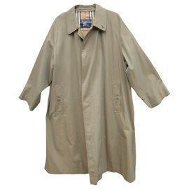 Burberry-raincoat man Burberry vintage t 54 Pure cotton-Khaki