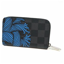 Louis Vuitton-LOUIS VUITTON Christopher Nemeth Zippy coin purse Mens coin case N41687 blue rope-Other