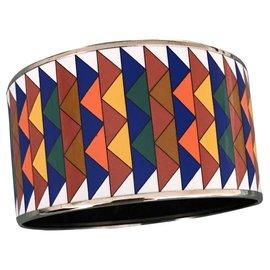 Hermès-Jonc / manchette-Multicolore