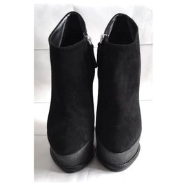 Giuseppe Zanotti-Wedged Ankle Boots-Black