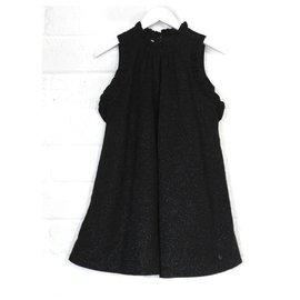 Christian Dior-Robe noire scintillante-Noir