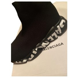 Balenciaga-Speed graffiti-Black