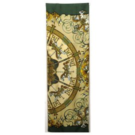 Hermès--Large hermès scarf-Green