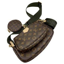 Louis Vuitton-Multi pochette accessoires-Marron,Kaki