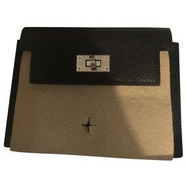 Hermès-Purses, wallets, cases-Black