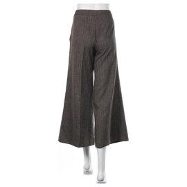 Acne-Pants, leggings-Brown