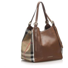 Burberry-Burberry Brown Canterbury Leather Tote Bag-Brown,Multiple colors