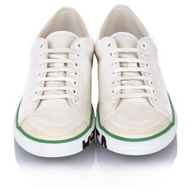 Balenciaga-Balenciaga White Match Canvas Sneaker-White,Green