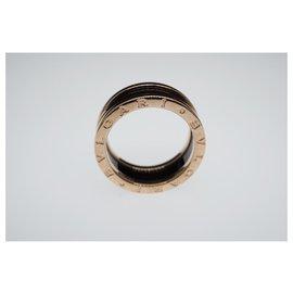 Bulgari-Bvlgari B.Zéro1 en céramique noire 18k or rose 2-Taille de bague de bande 58-Noir,Bijouterie dorée