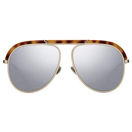 Dior-Christian Dior sunglasses (DiorDesertic-Brown,Gold hardware