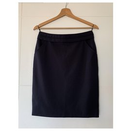 Chanel-Chanel skirt with pockets-Navy blue