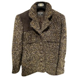 Chanel-Jackets-Brown,Black,Yellow