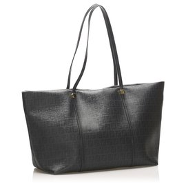 Fendi-Fendi Black Zucchino PVC Tote Bag-Black