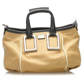 Chloé-Chloe Brown Ethel Leather Satchel-Brown,Black,Beige