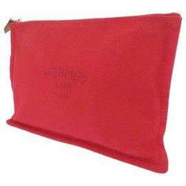 Hermès-Hermes Red Trousse Flat Yachting GM-Red