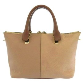 Chloé-Chloe Brown Bailey Leather Satchel-Brown,Beige