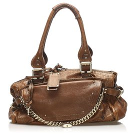 Chloé-Chloe Brown Paddington Capsule Leather Shoulder Bag-Brown