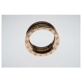 Bulgari-Bvlgari B.Zéro1 18k or rose 3 Taille de l'anneau de bande 54-Doré,Bijouterie dorée