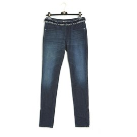 Chanel-DENIM TWEED FR38 NEW WITH TAG-Navy blue