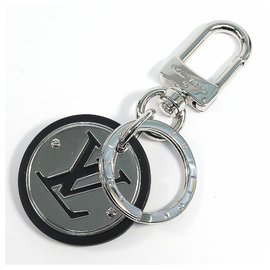 Louis Vuitton-Louis Vuitton key holder LV circle unisex key holder M67362 silver x black-Black,Silvery
