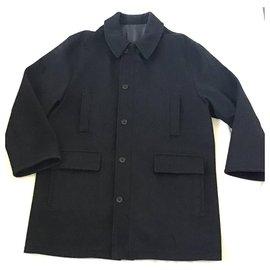 Yves Saint Laurent-Men Coats Outerwear-Dark grey
