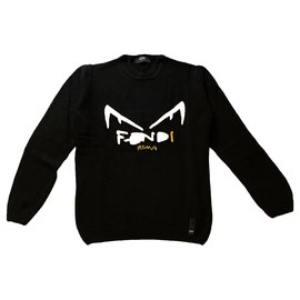 Fendi-Sweaters-Black