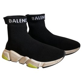 Balenciaga-speed trainer-Black,Yellow