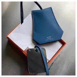 Hermès-Charmes de sac-Bleu