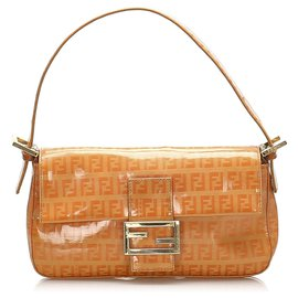 Fendi-Fendi Orange Zucchino Mamma Baguette-Orange