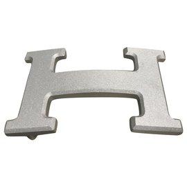 Hermès-Hermès buckle 5382 silver PVD steel-Silvery