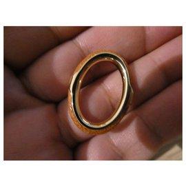 Hermès-Hermès kyoto scarf ring nine-Golden