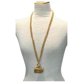 Chanel-Collier en or de sac Chanel vintage-Doré