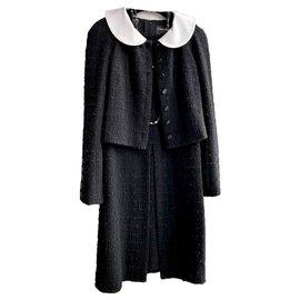 Chanel-little tweed jacket + dress-Black
