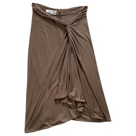 Yves Saint Laurent-Dresses-Taupe
