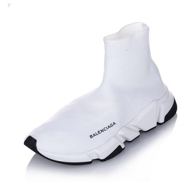 Balenciaga-Balenciaga White Speed LT Sneakers-White
