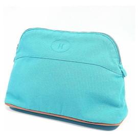 Hermès-HERMES Boledo pouch MM Womens pouch Light blue-Light blue