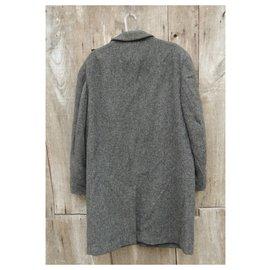 Autre Marque-Tweed harris coat size L-Grey
