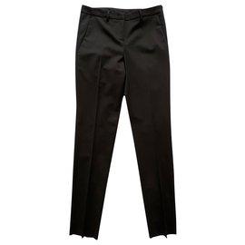 Moncler-Pantalon habillé en laine noir-Noir
