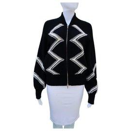 Chanel-Runway Stylish Zigzag jacket-Black