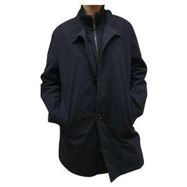 Burberry-Burberry nillock trench coat jacket-Black