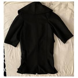 Jacquemus-Oversized black wool coat-Black