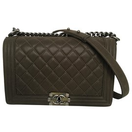 Chanel-Chanel Boy Old Medium-Khaki