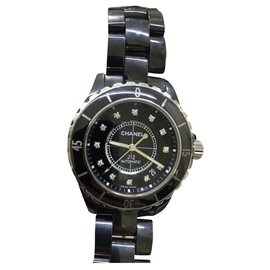Chanel-Montre Chanel J12 38mm automatique-Noir