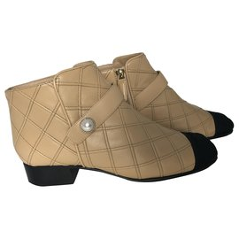 Chanel-Chanel ankle boots-Caramel