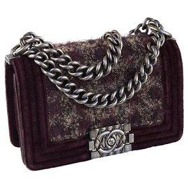 Chanel-Bolsa limitada para menino com caixa e saco para o pó-Marrom